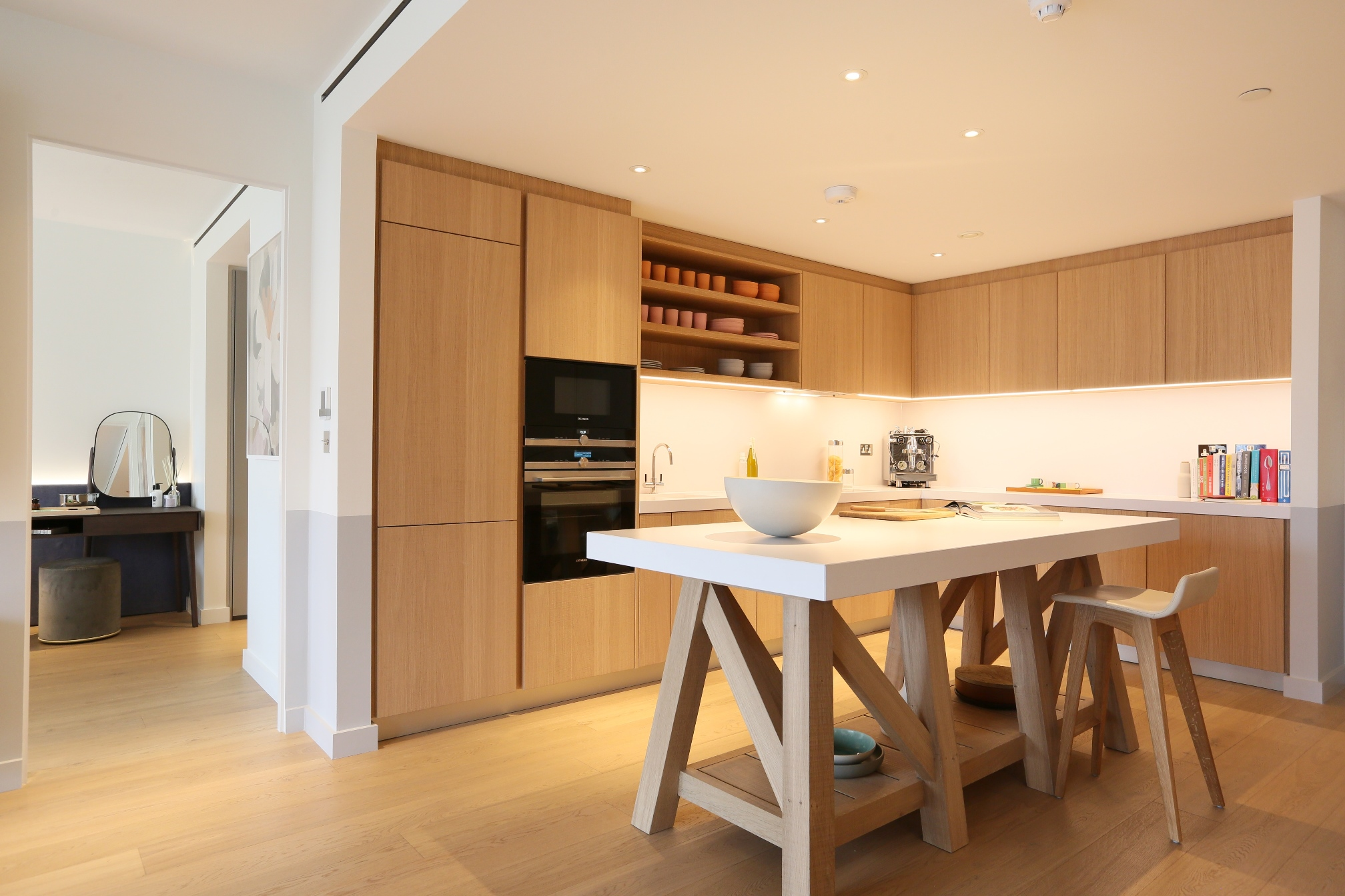 Gehry show apartment kitchen at Battersea Power Station